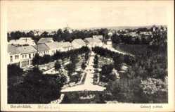 Postcard Borohradek Heideburg Reg. Königgrätz, Celkovy pohled, Parkanlage