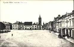 Postcard Vysoke Myto Reg. Pardubice, Namestie, Blick auf einen Platz, Turm