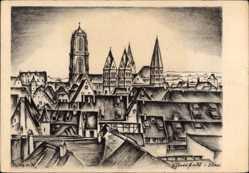 Künstler Ak Reimesch, Sélestat Schlettstadt Elsaß Bas Rhin, St. Georgsmünster