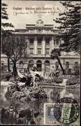 Postcard Cagliari Sardegna, Giardino della Stazine F. S., Gartenanlage, Bahnhof