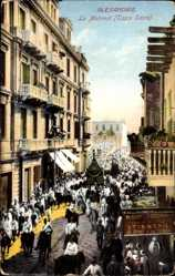 Ak Alexandria Ägypten, Le Mahmal, Tapis Sacre, Festumzug, Heiliger Teppich