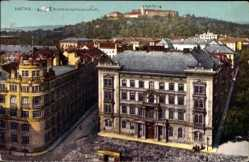 Postcard Brno Brünn Südmähren, Spielberg, Bezirkshauptmannschaft