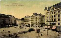 Postcard Brno Brünn Südmähren, Großer Platz gegen die Rudolfgasse