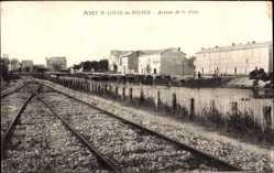 Postcard Port St Louis du Rhone Bouches du Rhône, Avenue de la Gare