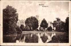 Postcard Wrocław Breslau Schlesien, Sybillenort, Schloss, Wasserseite