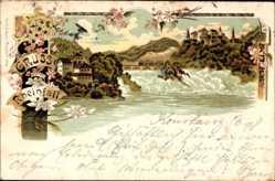 Litho Kanton Schaffhausen, Rheinfall, Wasserfälle, Umgebung