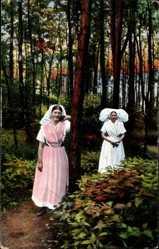 Ak Spreewald, Portrait zweier Spreewälderinnen in Trachten