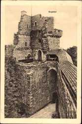 Postcard Zagrodno Adelsdorf Schlesien, Burg Grodziec, Bergfried, Ruine