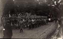 Foto Ak Wien 13., Begräbnis Oberst Hiltl Aug. 1930, Frontkämpfervereinigung