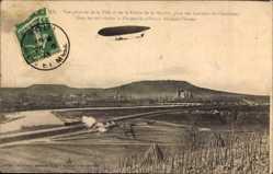 Postcard Toul Meurthe et Moselle, Vue generale, Dirigeable militaire Adjudant Vincenot