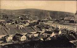 Postcard Brtnice Pirnitz Reg. Hochland, fiktivi Pacov, Blick auf den Ort, Häuser