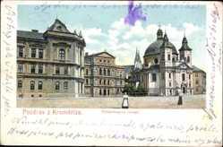 Postcard Kromeriz Kremsier Reg. Zlin, Fürstenstenbergovo namesti, Fürstenbergplatz