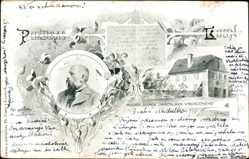 Postcard Louny Reg. Aussig, Rodny Domek Jaroslava Vrchlickeho, Jaroslav Vrchlický