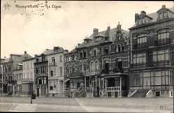 Ak Nieuport Bains Westflandern Belgien, La Digue, Straßenpartie, Häuser