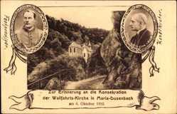 Ak Ribeauvillé Rappoltsweiler Elsaß Haut Rhin,Wallfahrtskirche Maria Dusenbach