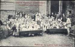 Ak Postorna Südmähren, Justitia regnorum fundamentum, Kinder in Schule