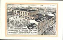 Postcard Bruxelles Brüssel, Agrandissement de l'Institut Nieberding, Rue Jordaens 77