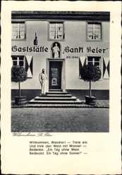 Postcard Walporzheim Bad Neuenahr Ahrweiler, Gaststätte Sankt Peter, AD 1246