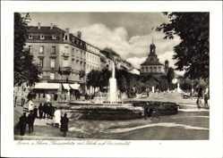 Postcard Bonn in Nordrhein Westfalen, Kaiserplatz mit Blick auf Universität