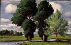 Künstler Ak Hoy, W., Baumgruppe, A group of trees, Groupe d'arbres, Degi 1153