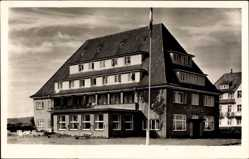 Postcard Kampen Insel Sylt, Rungholt, Herberge, Fahnenmast