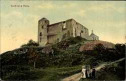 Postcard Rabu Reg. Pardubice, Kuneticka Hora, Blick auf ein Gebäude, Kirche