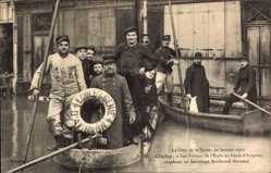 Postcard Clichy Hauts de Seine, Crue de la Seine 30 Janvier 1910, Genie d'Avignon