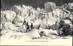 Ak Seracs Kt. Graubünden Schweiz, Morteratschgletscher, Bergsteiger