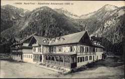 Postcard Reutte Tirol Österreich, Blick auf dads Alpenhotel Ammerwald, Gebirge