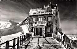 Postcard Kt. Bern Schweiz, Jungfraujoch, Sphinxgipfel, Meteorologisches Observatorium