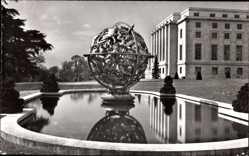 Postcard Genève Genf Stadt, Le palais des Nations Unies, Sphere Armillaire