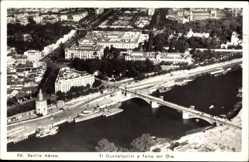Postcard Sevilla Andalusien, Blick auf den Ort, Brücke, Fliegeraufnahme