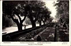 Postcard Pamplona Navarra Spanien, Jardines de la Taconera, Gartenanlage