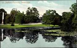 Postcard Royal Leamington Spa West Midlands England, In Jephson Gardens