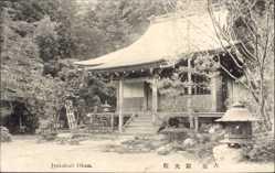 Postcard Japan, Jyakukoir Ohara, Blick auf einen Tempel, Pagode