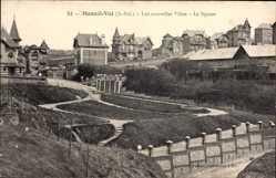 Postcard Mesnil Val Seine Maritime, Les nouvelles Villas, le Square, Villenviertel