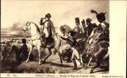 Künstler Ak Vernet, Horace, Bataille de Wagram 1809, Napoleon Bonaparte