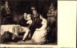 Künstler Ak Meniaud, A., Napoleon Bonaparte et le Roi de Rome