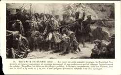 Künstler Ak Retraite de Russie 1812, Marechal Ney, Napoleon