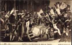 Künstler Ak David, La Distribution des Aigles par Napoleon, Musee de Versailles