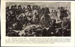 Künstler Ak Bataille d'Eylau Fevrier 1807, Napoleon Bonaparte