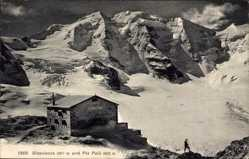 Ak Pontresina Kt. Graubünden Schweiz, Diavolezza und Piz Palü
