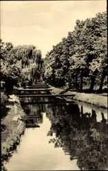 Postcard Kalbe Milde im Altmarkkreis Salzwedel, Partie an der Milde, Stege