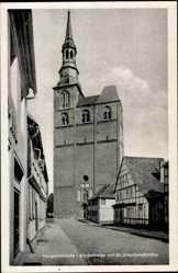 Postcard Tangermünde in Sachsen Anhalt, Kirchstraße mit St. Stephanskirche