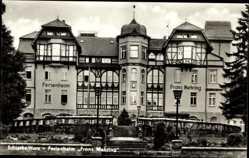 Postcard Schierke Wernigerode, Blick auf das Ferienheim Franz Mehring