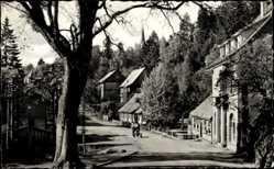 Postcard Schierke Wernigerode, Blick in die Ernst Thälmann Straße, Häuser