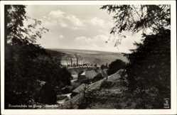 Postcard Trautenstein Oberharz am Brocken, Blick auf das Kurheim, Felder, Wald