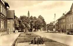 Postcard Hasselfelde Oberharz am Brocken, Partie am Markt, Kirchturm