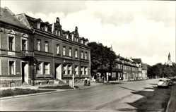 Postcard Hasselfelde Oberharz am Brocken, Breite Straße mit HO Hotel zur Krone