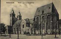 Postcard Halberstadt in Sachsen Anhalt, Blick auf Pauls und Garnisonkirche